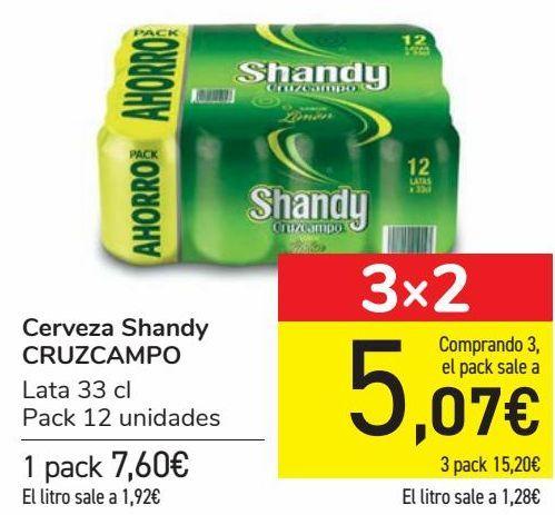 Oferta de Cerveza Shandy CRUZCAMPO  por 7,25€