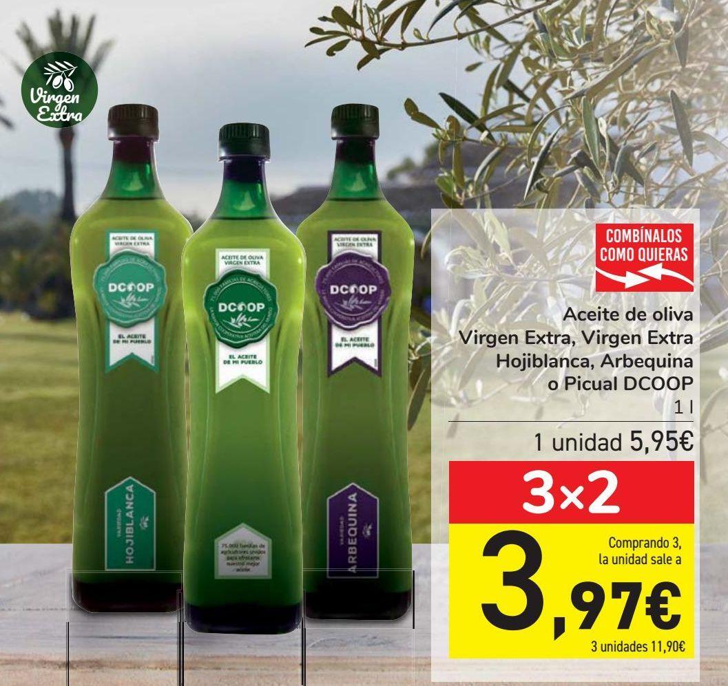 Oferta de Aceite de oliva Virgen Extra, Virgen Extra Hojiblanca, Arbequina o Picual DCOOP por 5,95€