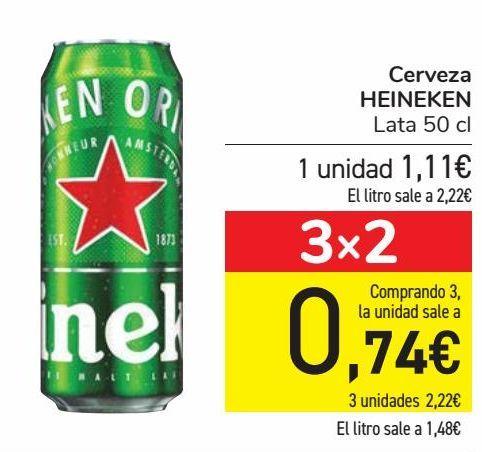 Oferta de Cerveza HEINEKEN  por 1,11€