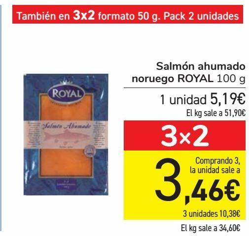 Oferta de Salmón ahumado noruego ROYAL  por 5,19€