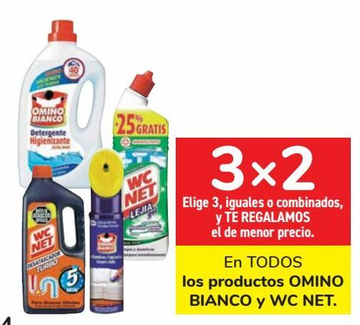 Oferta de En TODOS los productos OMINO BIANCO y WC NET  por
