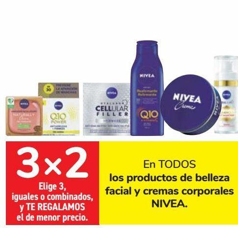 Oferta de En TODOS los productos de belleza facial y cremas corporales NIVEA  por