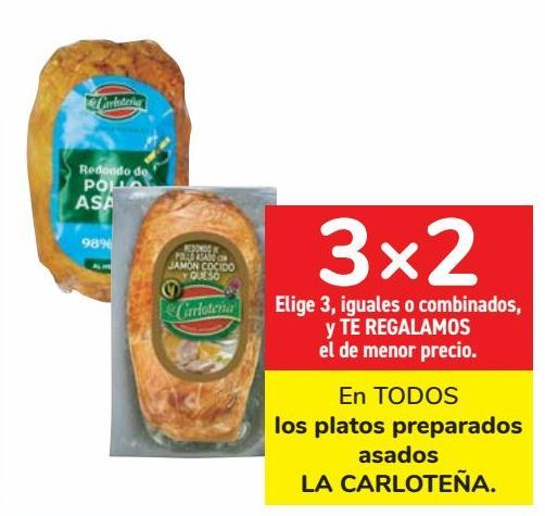 Oferta de En TODOS los platos preparados asados LA CARLOTEÑA  por
