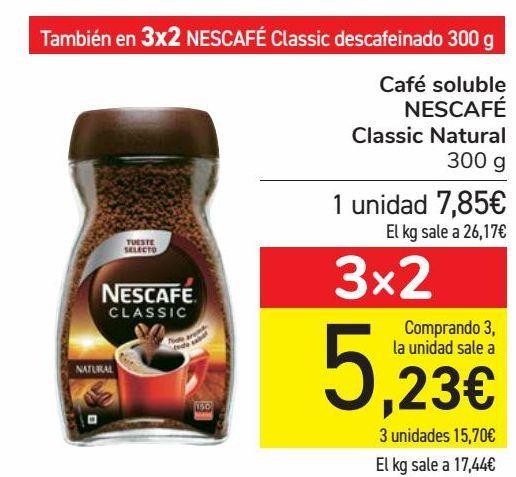Oferta de Café soluble NESCAFE Classic Natural  por 7,85€