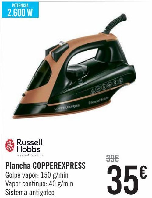 Oferta de Russel Hobbs Plancha COPPEREXPRESS  por 35€