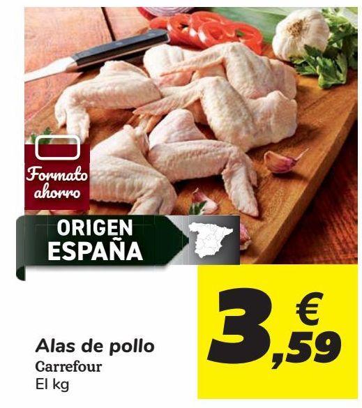 Oferta de Alas de pollo Carrefour por 3,59€