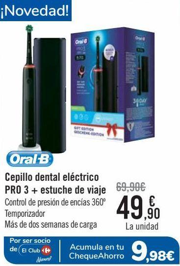 Oferta de Cepillo dental eléctrico PRO 3 + estuche de viaje  por 49,9€