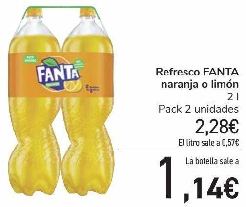 Oferta de Refresco FANTA Naranja o limón por 2,28€