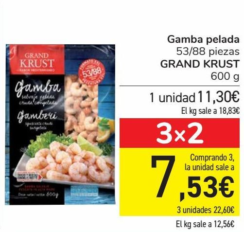 Oferta de Gamba pelada GRAND KRUST por 11,3€