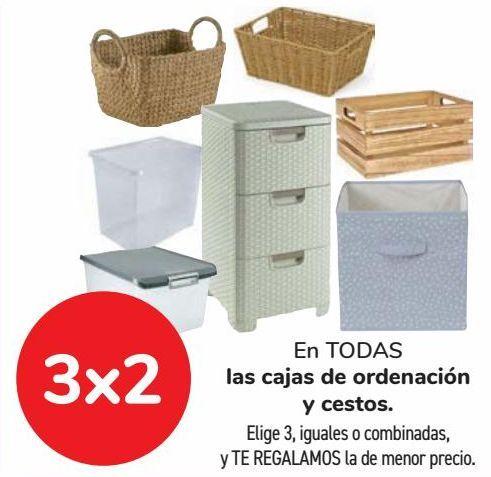 Oferta de En TODAS las cajas de ordenación y cestos  por