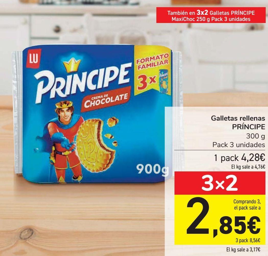 Oferta de Galletas rellenas PRÍNCIPE  por 4,29€