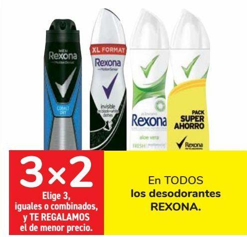Oferta de En TODOS los desodorantes REXONA  por
