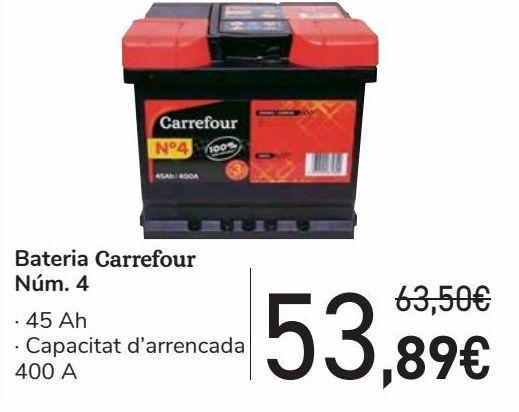 Oferta de Batería Carrefour Nº4  por 53,89€