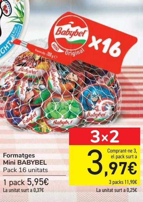 Oferta de Quesos Mini BABYBEL por 5,95€