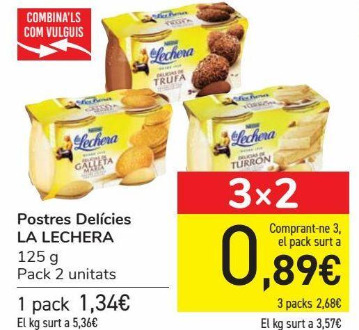 Oferta de Postres Delicias LA LECHERA  por 1,34€