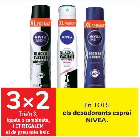 Oferta de En TODOS los desodorantes spray NIVEA  por