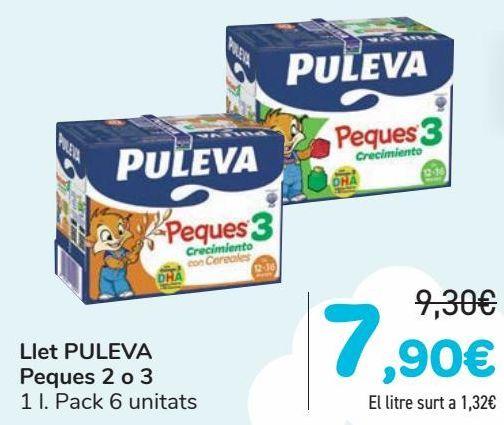 Oferta de Leche PULEVA Peques 2 o 3  por 7,9€