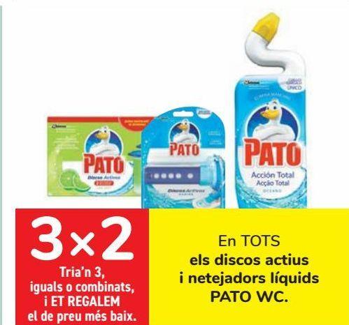Oferta de En TODOS los discos activos y limpiadores líquidos PATO WC  por