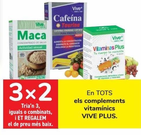 Oferta de En TODOS los complementos vitamínicos VIVE PLUS  por