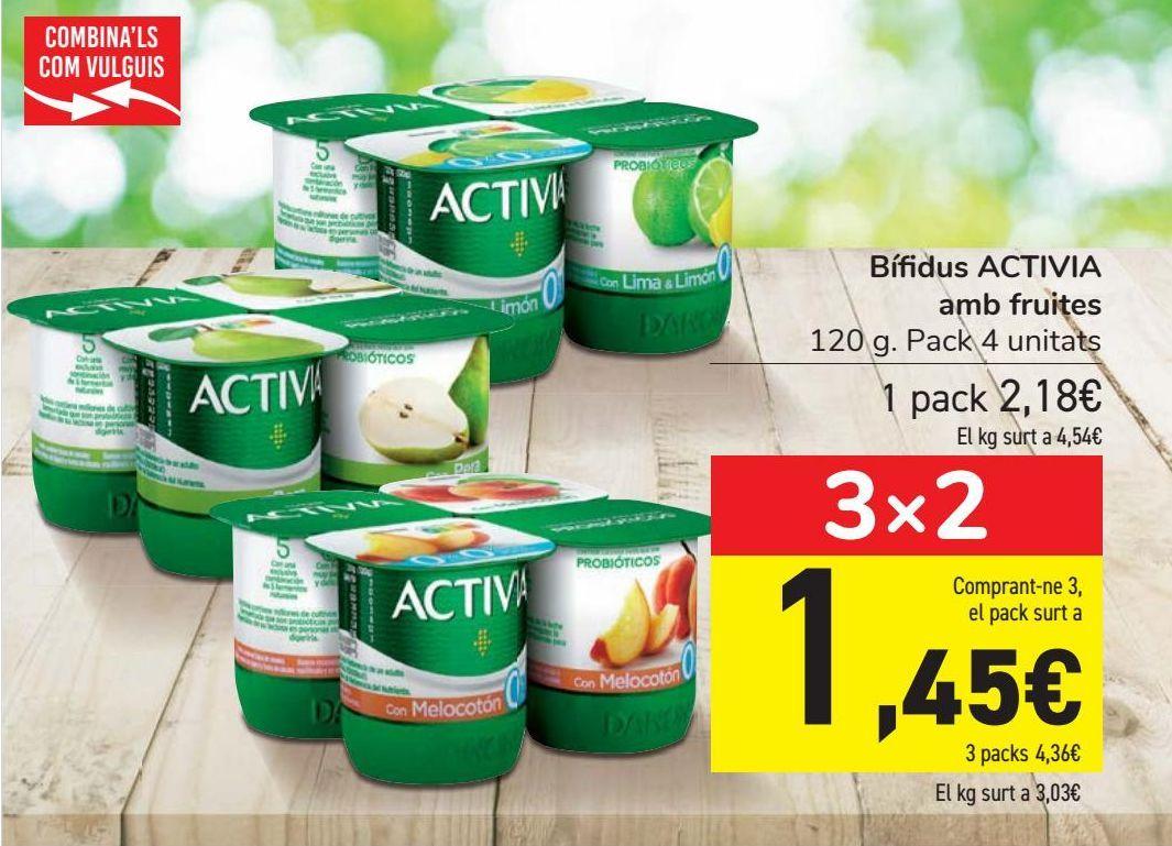 Oferta de Bífidus ACTIVIA con frutas por 2,18€