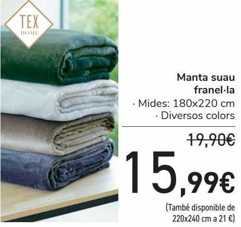 Oferta de Manta suave franela  por 15,99€