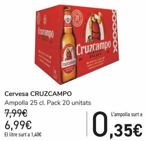 Oferta de Cerveza CRUZCAMPO  por 6,99€