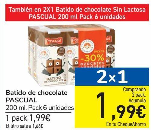 Oferta de Batido de chocolate PASCUAL  por 1,99€