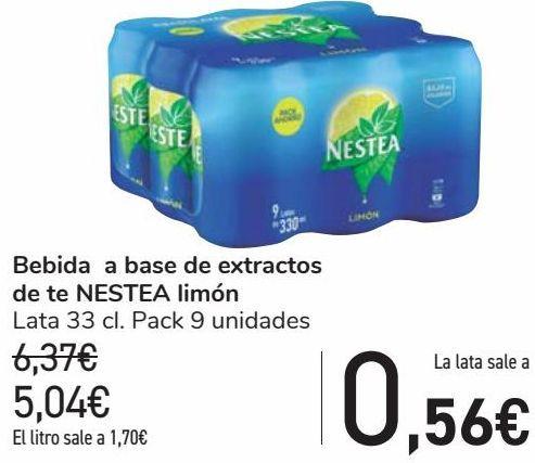 Oferta de Bebida a base de extractos de te NESTEA Limón  por 5,04€