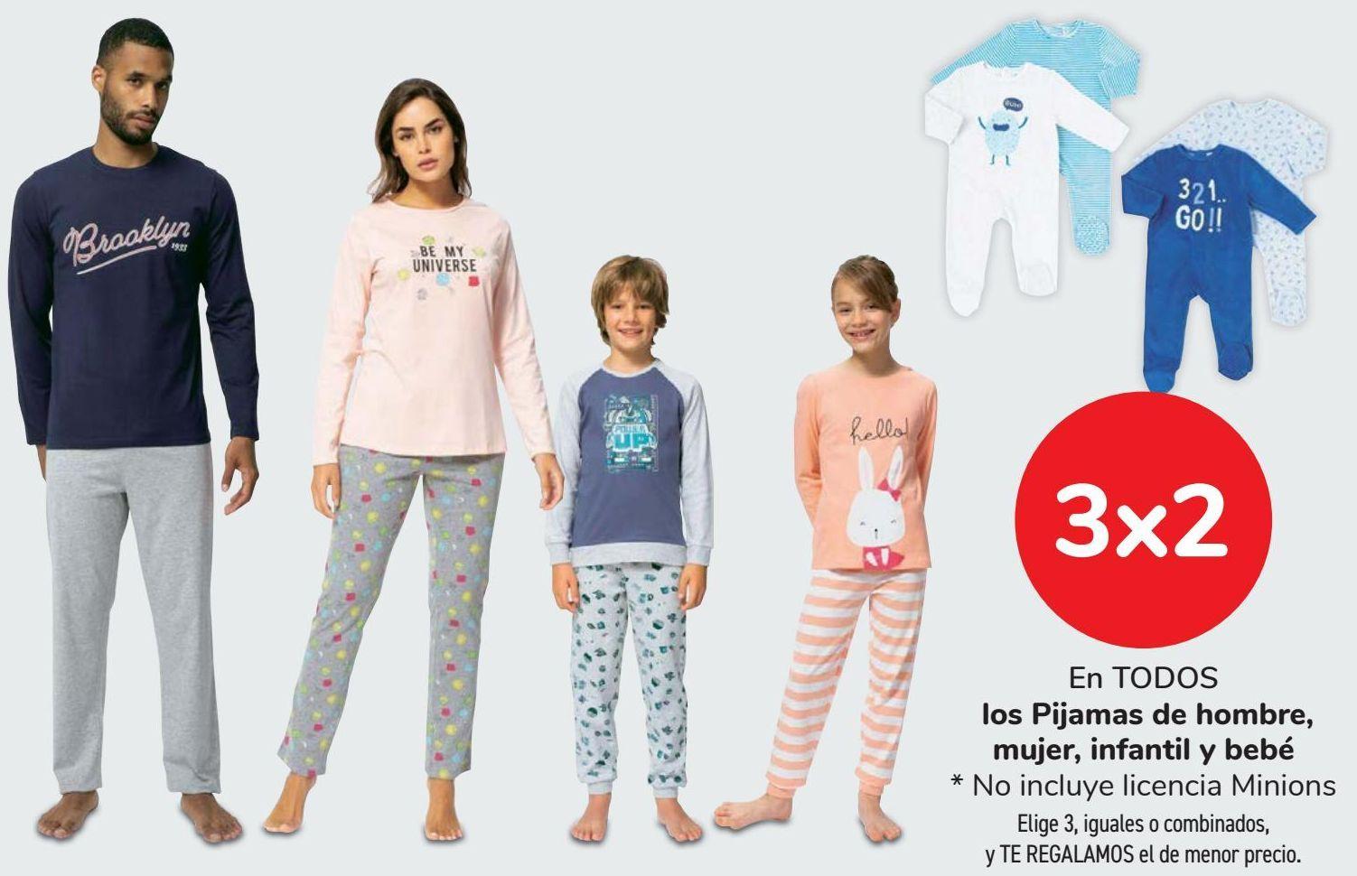 Oferta de En TODOS los Pijamas de Hombre, mujer, infantil y bebé  por