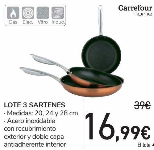 Oferta de LOTE 3 SARTENES  por 16,99€