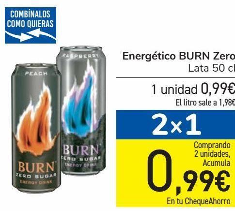 Oferta de Energético Burn Zero  por 0,99€