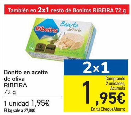 Oferta de Bonita en aceite de oliva RIBEIRA  por 1,95€
