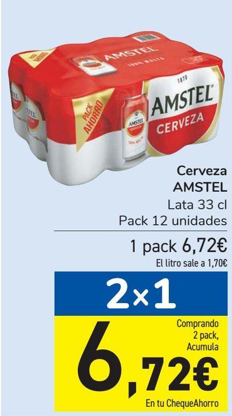 Oferta de Cerveza AMSTEL  por 6,72€