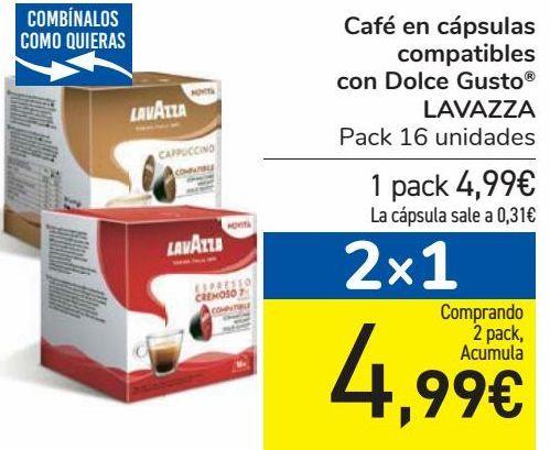 Oferta de Café en cápsulas compatibles con Dolce Gusto LAVAZZA  por 4,99€