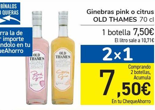 Oferta de Ginebra pink o citrus OLD THAMES  por 7,5€