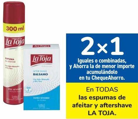 Oferta de En TODAS las espumas de afeitar y aftershave LA TOJA  por