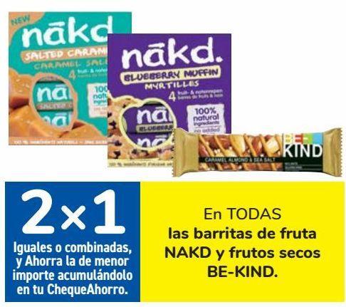 Oferta de En TODAS las barritas de fruta NAKD y frutos secos BE-KIND por