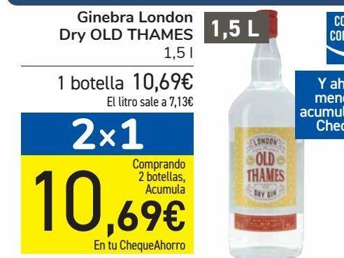 Oferta de Ginebra London Dry OLD THAMES  por 10,69€