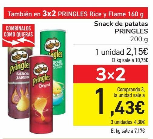 Oferta de Snack de patatas PRINGLES  por 2,15€