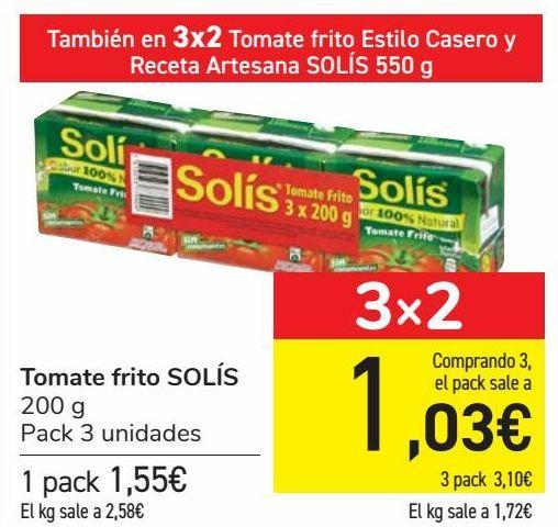 Oferta de Tomate frito SOLÍS por 1,55€