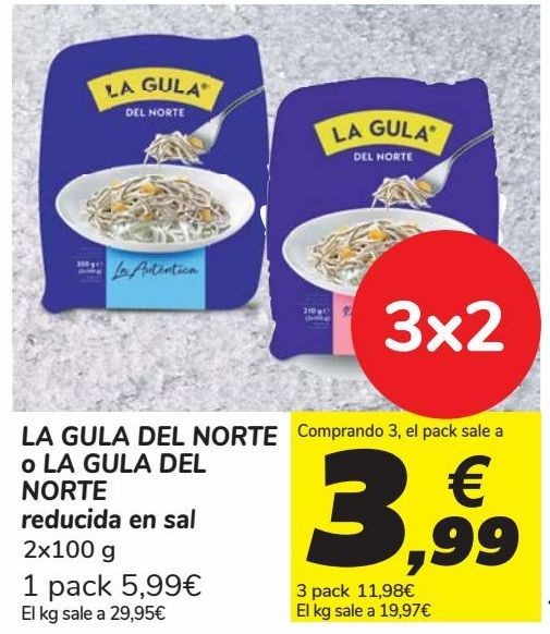 Oferta de LA GULA DEL NORTE o LA GULA DEL NORTE reducida en sal por 5,99€