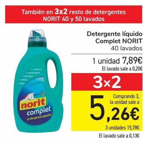 Oferta de Detergente líquido Complet NORIT por 7,9€
