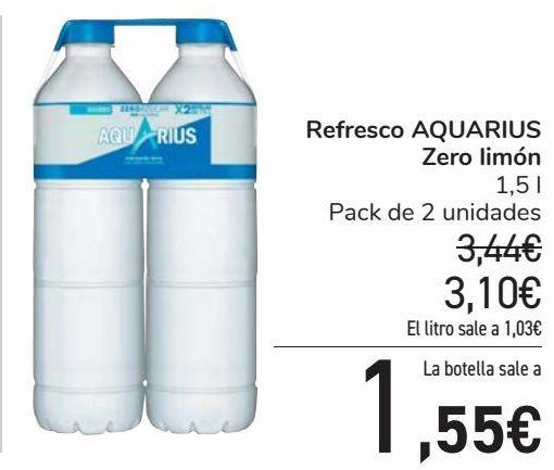 Oferta de Refresco AQUARIUS Zero Limón por 3,1€