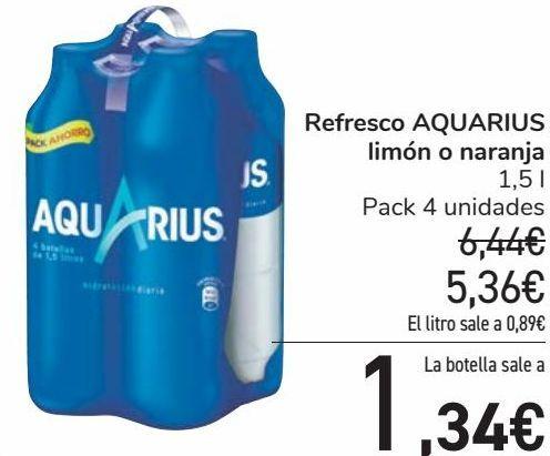 Oferta de Refresco AQUARIUS Limón o naranja  por 5,36€