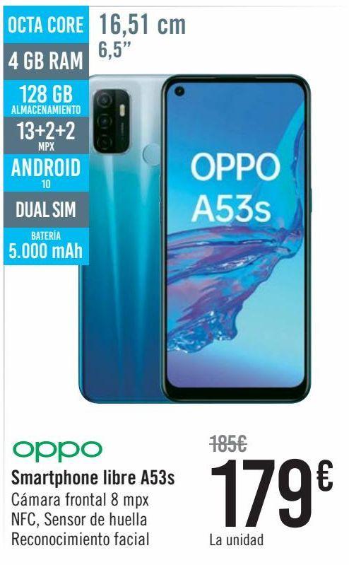 Oferta de OPPO Smartphone libre A53s  por 179€