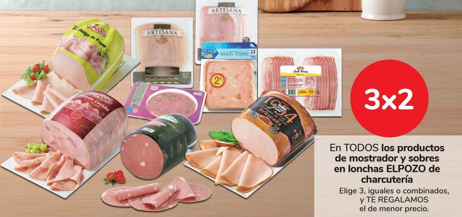 Oferta de En TODOS los productos de mostrador y sobres en lonchas EL POZO de charcutería por