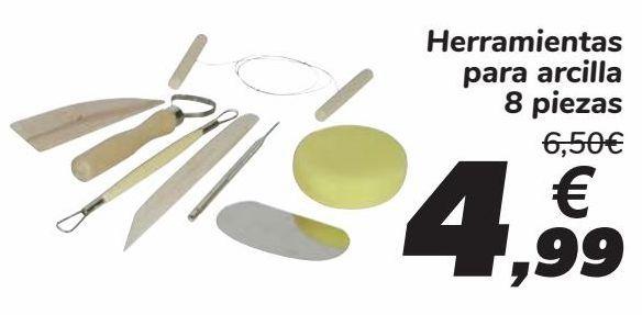 Oferta de Herramientas para arcilla  por 4,99€