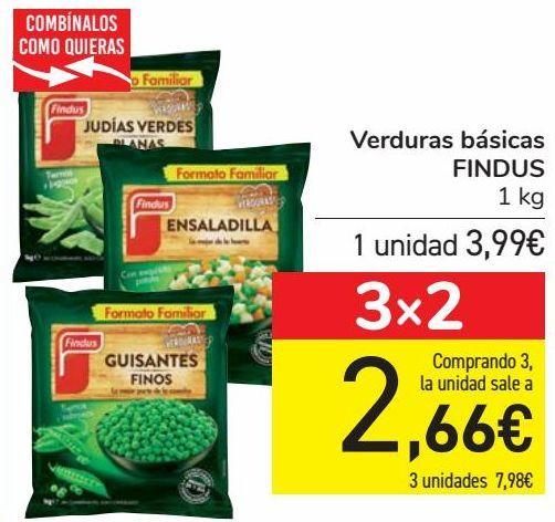 Oferta de Verduras básicas FINDUS  por 3,99€