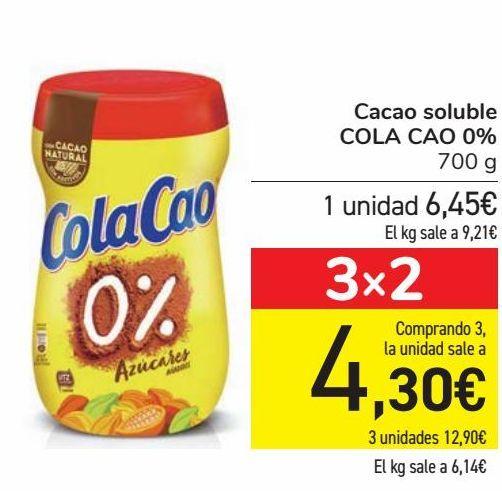 Oferta de Cacao soluble COLA CAO 0% por 6,45€