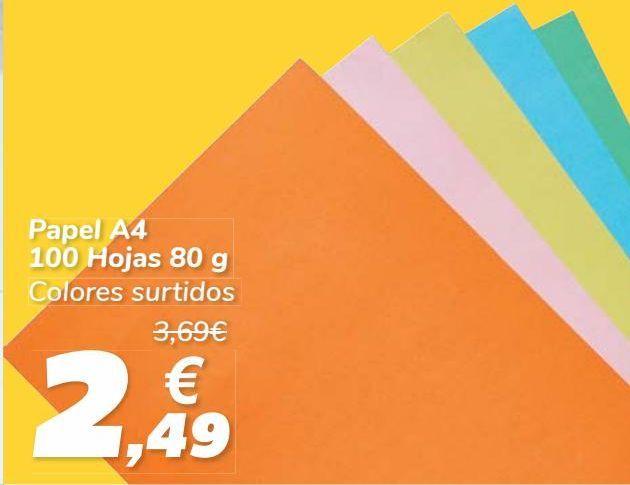 Oferta de Papel A4 100 Hojas  por 2,49€